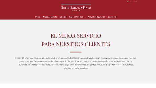 Bufet Balsells Pintó disseny i programació web plantilla