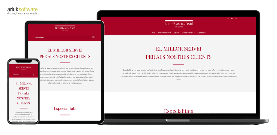 Bufet Balsells Pintó disseny i programació web en WordPress