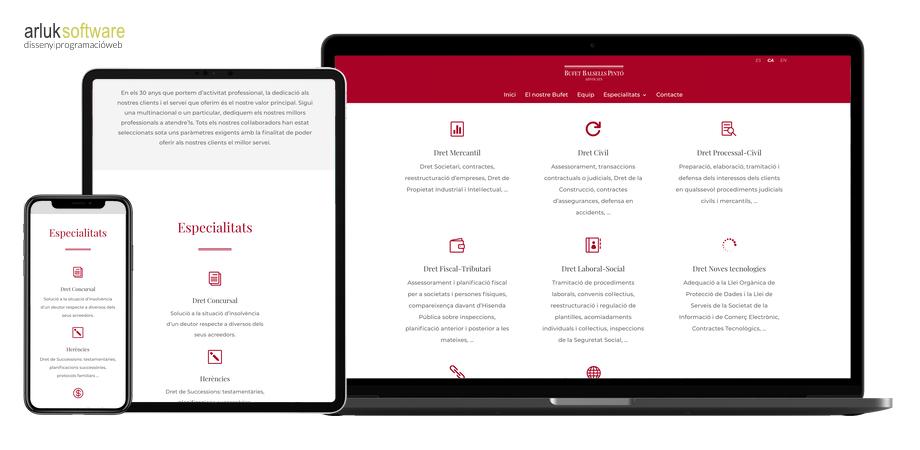 Bufet Balsells Pintó disseny i programació web en WordPress exemple 2