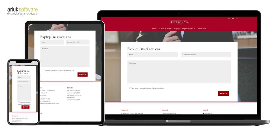 Bufet Balsells Pintó disseny i programació web en WordPress exemple 3