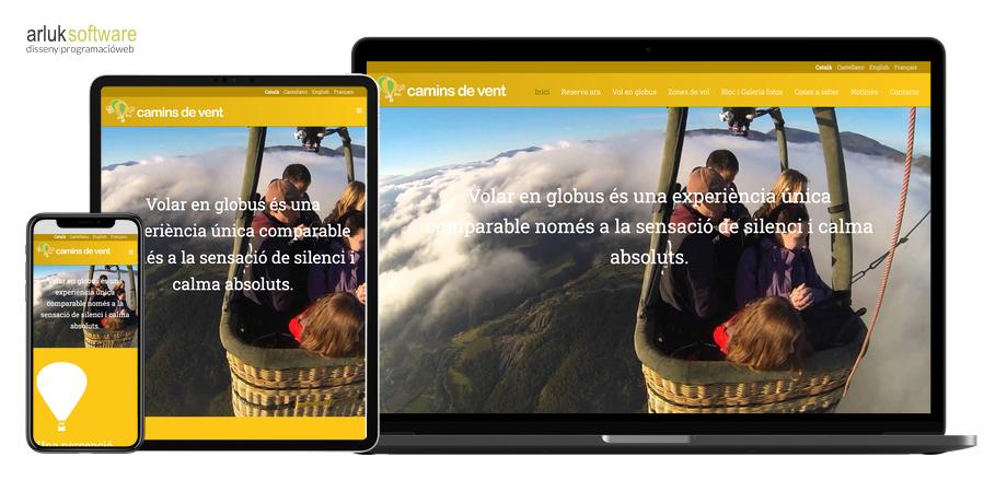 Camins de vent disseny web i programació web a mida responsive exemple 1
