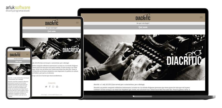 Diacrític programació web a mida responsive exemple 3