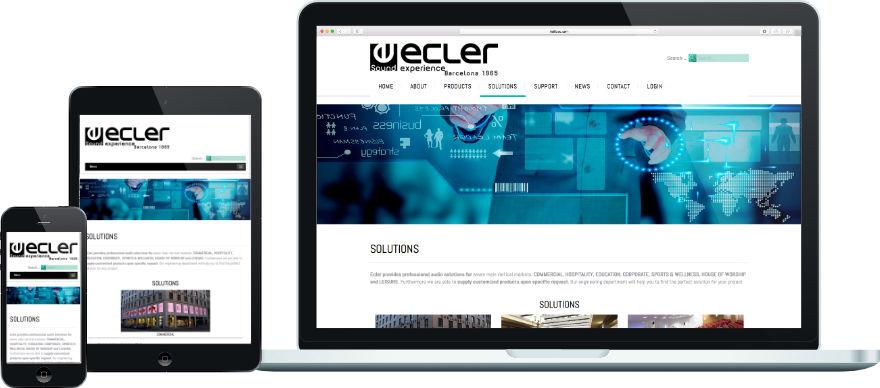 Ecler programació plantilla web a mida i configuració getsor de continguts joomla exemple 1