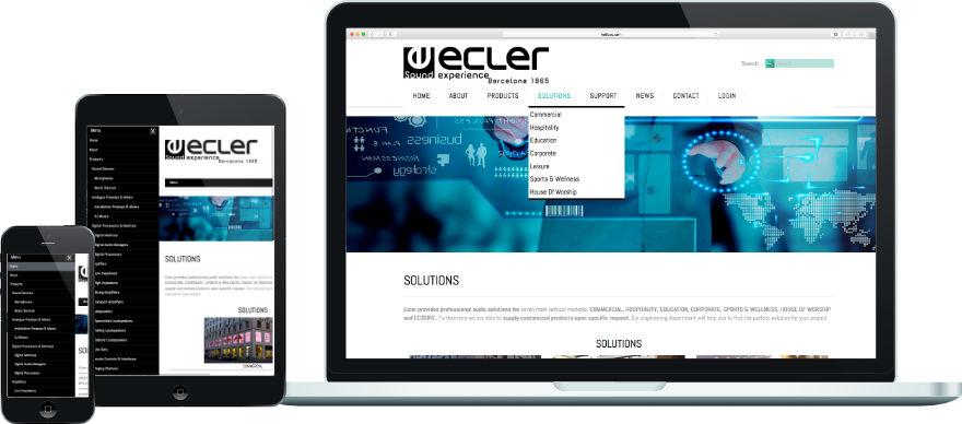 Ecler programació plantilla web a mida i configuració getsor de continguts joomla exemple 2