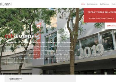 Disseny i maquetació web: esbalumni