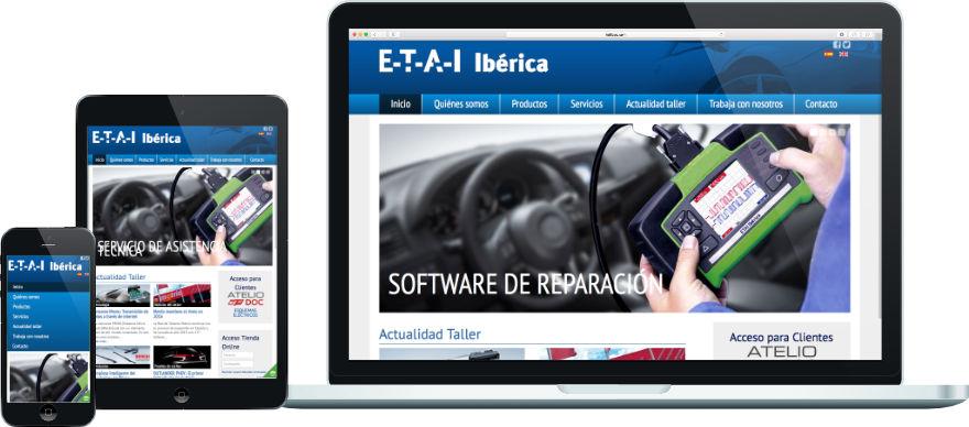 ETAI programació plantilla joomla a mida botiga online exemple 1