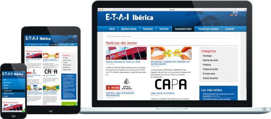 ETAI programació plantilla joomla a mida botiga online exemple 2