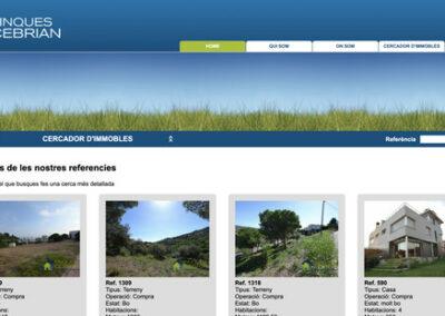 Programació a mida web i eina gestió immobles: Finques Cebrian