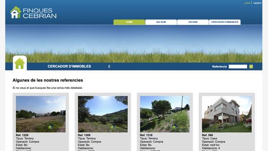 Finques Cebrian programació web eina gestió immobles a mida