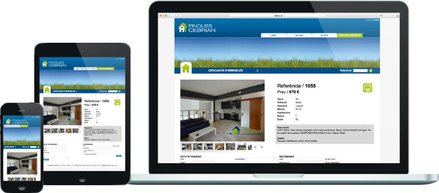 Finques Cebrian programació web eina gestió immobles a mida exemple 2