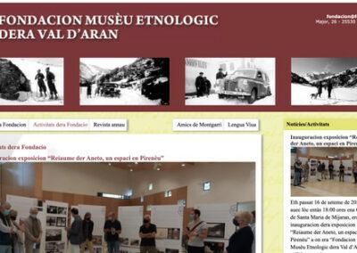 Disseny web i programació plantilla web: Fondacion musèu ethnologic dera Val d'Aran