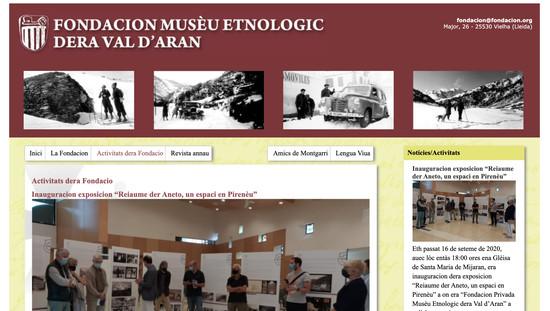 Fondacion Musèu Etnologic dera Val d'Aran disseny web programació plantilla web a mida