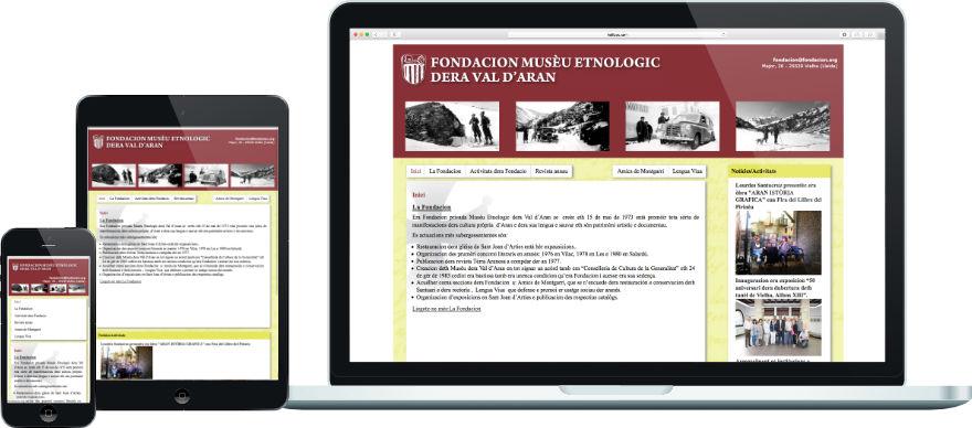 Fondacion Musèu Etnologic dera Val d'Aran disseny web programació plantilla web a mida exemple 1