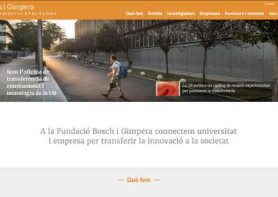 Programació web: Fundació Bosch i Gimpera