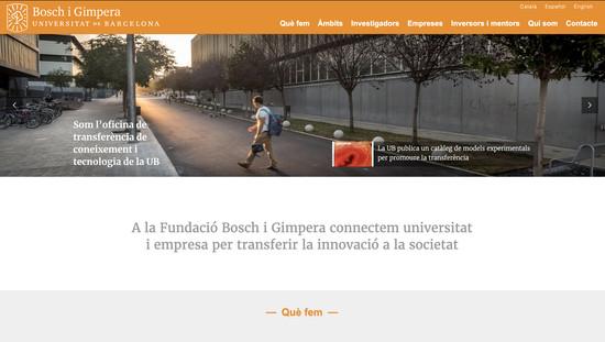 Fundació Bosch i Gimpera programació plantilla web a mida i maquetació contingut