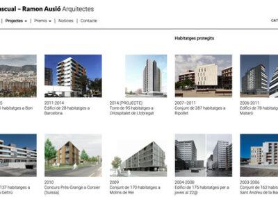 Programació plantilla web: Joan Pascual arquitectes