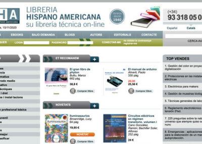 Programació web a mida botiga online: Llibreria Hispano Americana de Barcelona