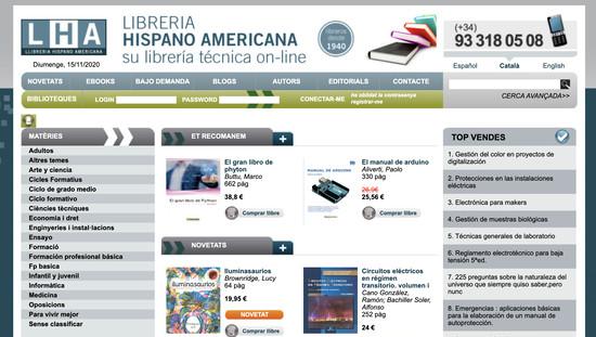 Llibreria Hispano Americana programació botiga online a mida