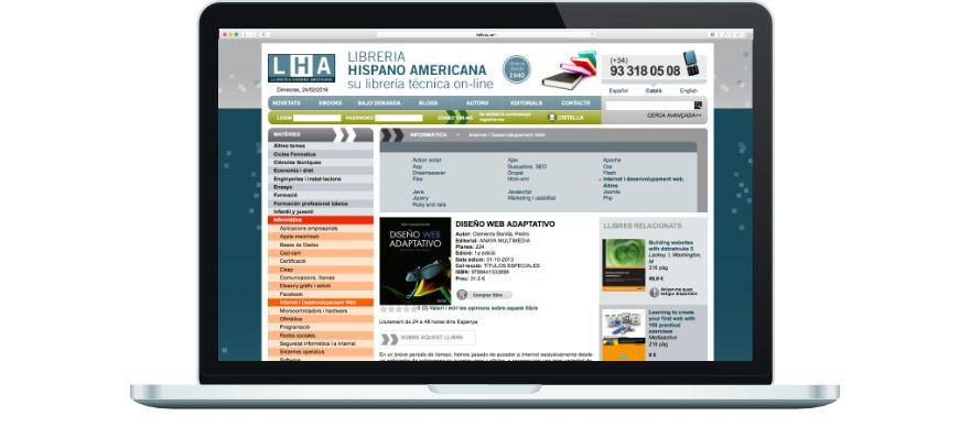Llibreria Hispano Americana programació botiga online a mida exemple 3