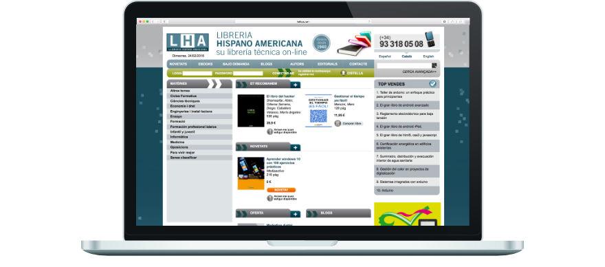 Llibreria Hispano Americana programació botiga online a mida exemple 1