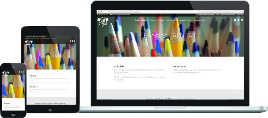 Mas Pagès personalització plantilla web i maquetació contingut exemple 2