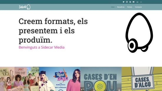 Sidecar media disseny web plantilla personalitzada wordpress responsive