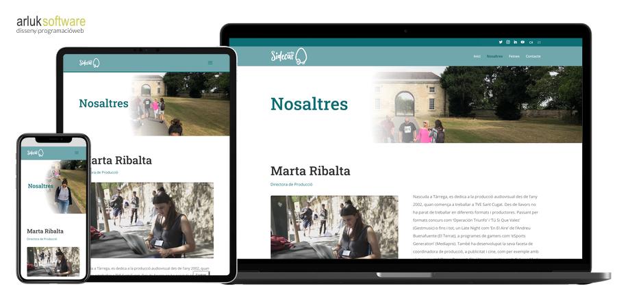 Sidecar media disseny web plantilla personalitzada wordpress responsive exemple 2