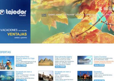 Disseny web i programació plantilla web a mida: Viajes Tejedor