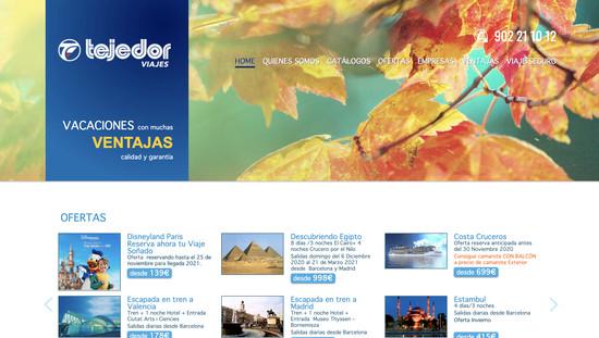 Viajes Tejedor disseny web programació plantilla web a mida