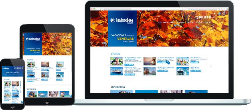 Viajes Tejedor disseny web programació plantilla web a mida exemple 1