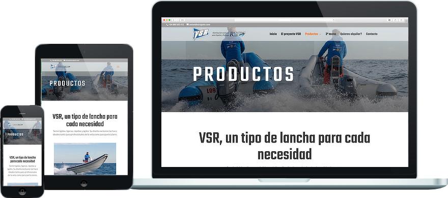 VSR Spain personalització plantilla i maquetacio web exemple 1