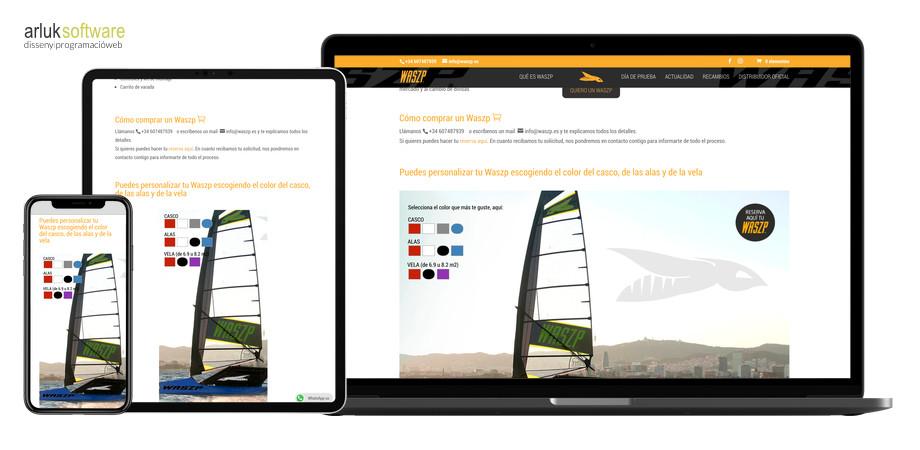 Waszp programació web plantilla a mida maquetació web exemple 2