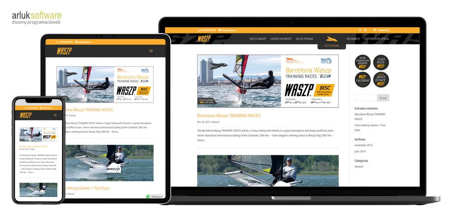 Waszp programació web plantilla a mida maquetació web exemple 3