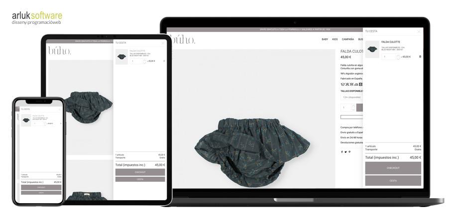 Desenvolupament ecommerce amb prestashop fitxa producte