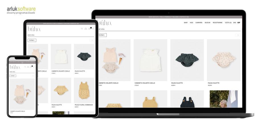 Desenvolupament ecommerce amb prestashop llista de productes botiga