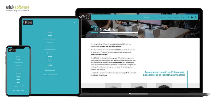 Desenvolupament web en WordPress amb plantilla a mida menu desktop i responsive