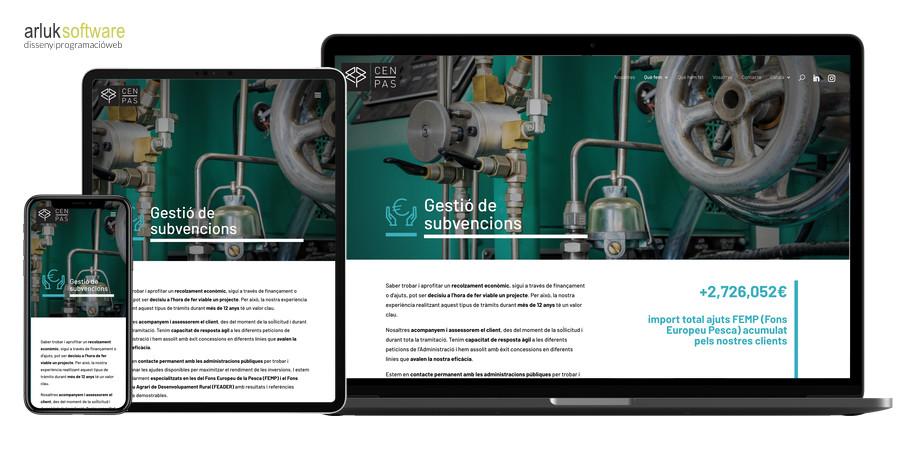 Desenvolupament web en WordPress amb plantilla a mida plana interior