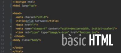 Coneixements bàsics d'HTML per poder maquetar un text